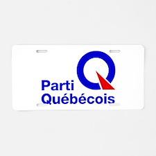 Parti Quebecois Aluminum License Plate