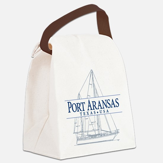 Port Aransas - Canvas Lunch Bag