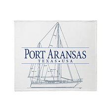 Port Aransas - Throw Blanket