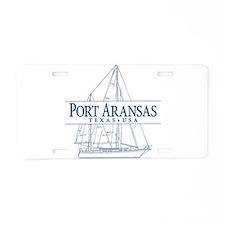 Port Aransas - Aluminum License Plate