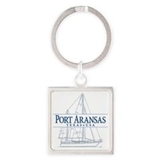 Port Aransas - Square Keychain