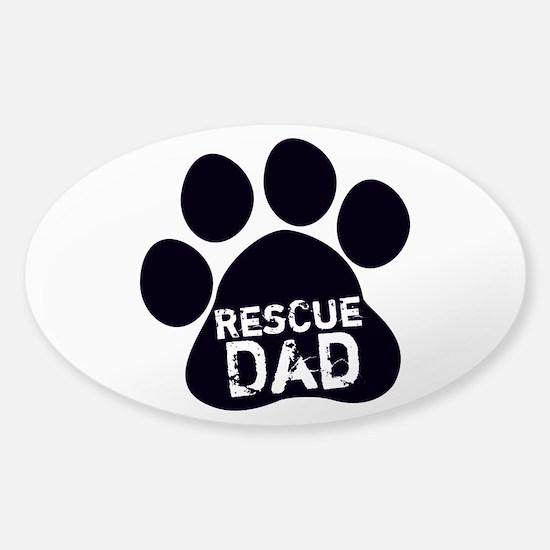 Rescue Dad Sticker (Oval)