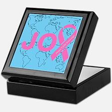 OYOOS JOY support cancer design Keepsake Box