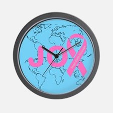 OYOOS JOY support cancer design Wall Clock