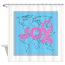 OYOOS JOY support cancer design Shower Curtain
