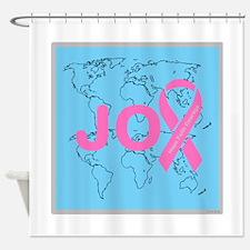 OYOOS JOY support cancer design Shower Curtain