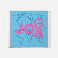 OYOOS JOY support cancer design Throw Blanket
