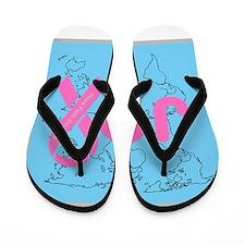 OYOOS JOY support cancer design Flip Flops