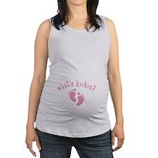 Whats Kickin Pink Maternity Tank Top