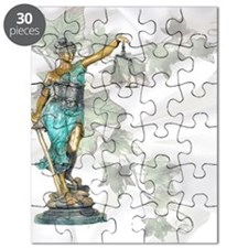 Lady Justice on Satin and Ivy Puzzle
