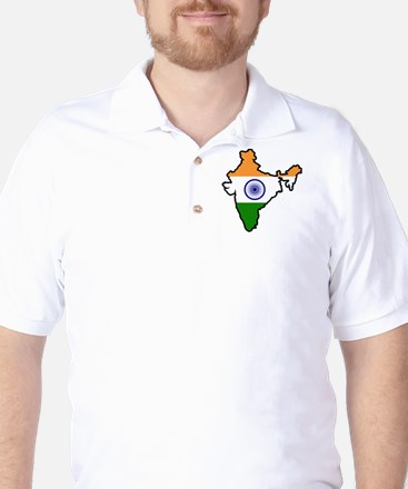 India Map Golf Shirt