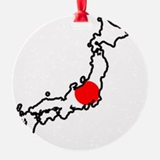 Japan Flag Map Ornament