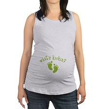 Whats Kickin Green Maternity Tank Top