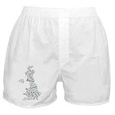 Tagcloud Britain Boxer Shorts