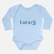 Blue Lucas Name Body Suit