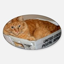 Mail Cat Sticker (Oval)