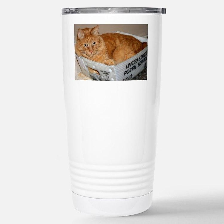 Mail Cat Travel Mug