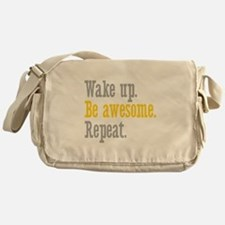 Wake Up Be Awesome Messenger Bag