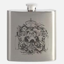 Skull And Cherubs Flask