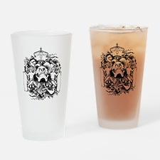 Skull And Cherubs Drinking Glass