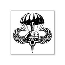 Paratrooper Skull Sticker
