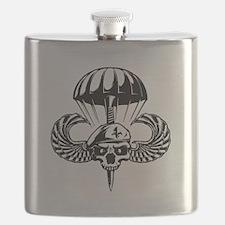 Paratrooper Skull Flask