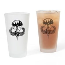 Paratrooper Skull Drinking Glass