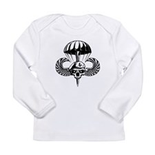 Paratrooper Skull Long Sleeve T-Shirt