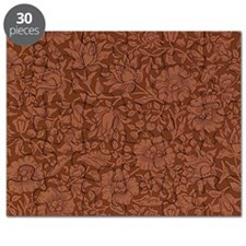 William Morris - Mallow pattern (dark red) Puzzle