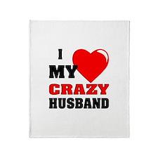 Love My Crazy Husband Throw Blanket