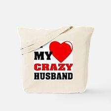 Love My Crazy Husband Tote Bag