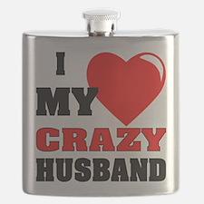 Love My Crazy Husband Flask