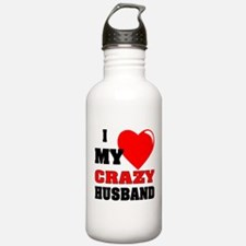 Love My Crazy Husband Water Bottle