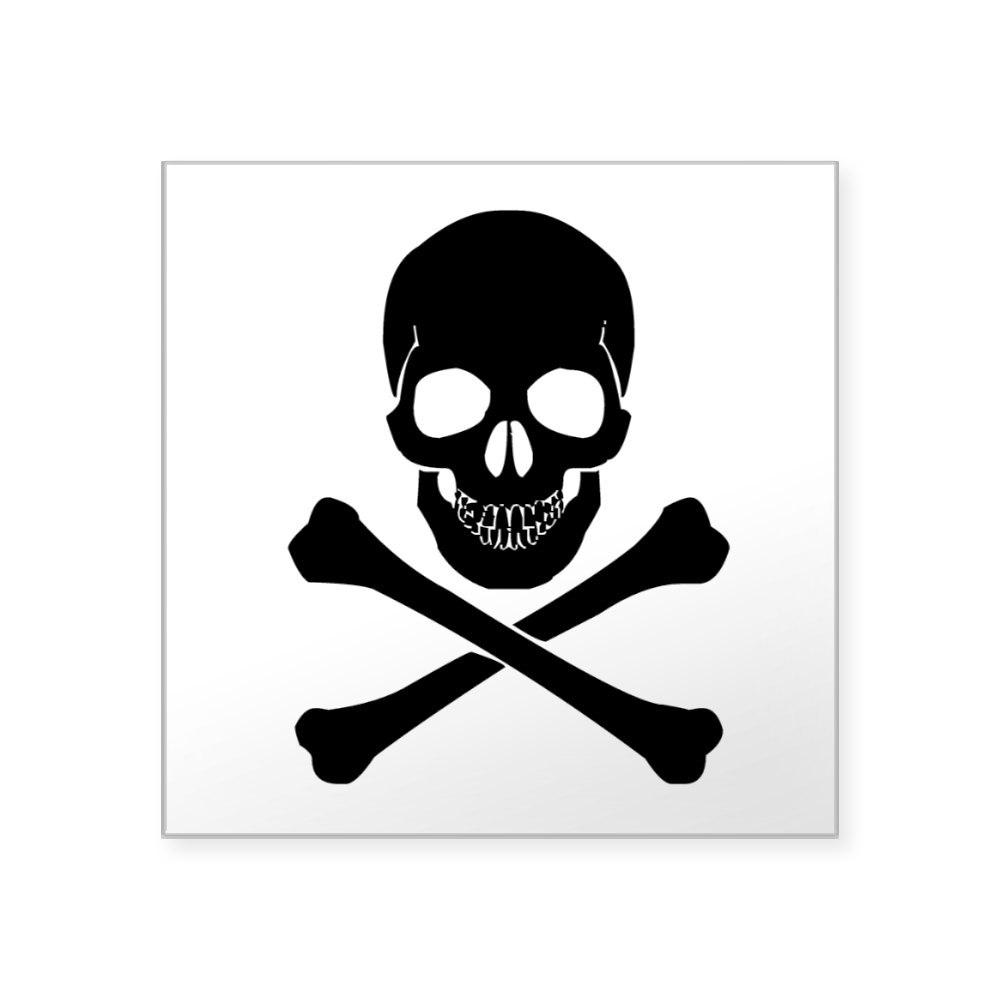 1223638712 CafePress Skull And Crossbones Sticker Square Sticker