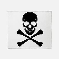 Skull And Crossbones Throw Blanket