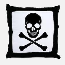 Skull And Crossbones Throw Pillow