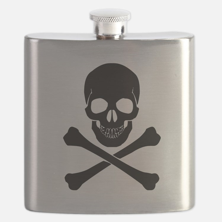 Skull And Crossbones Flask