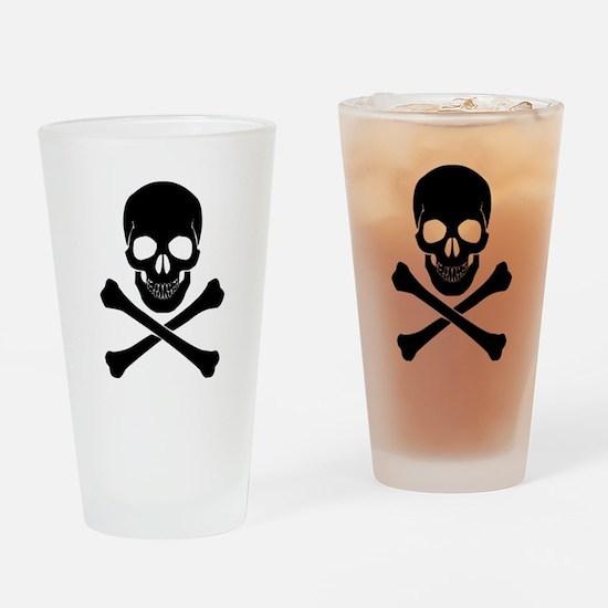 Skull And Crossbones Drinking Glass