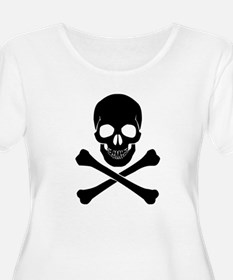 Skull And Crossbones Plus Size T-Shirt