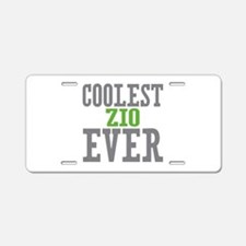 Coolest Zio Ever Aluminum License Plate