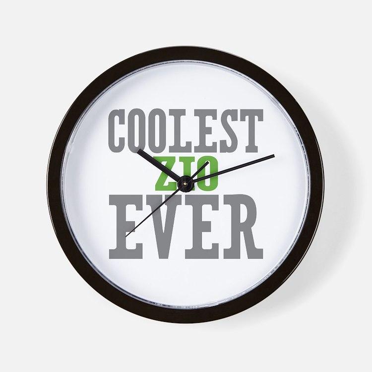 Coolest Zio Ever Wall Clock