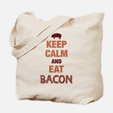 Keep Calm Eat Bacon Tote Bag