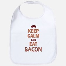 Keep Calm Eat Bacon Bib