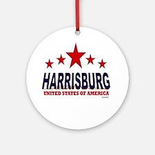 Harrisburg U.S.A. Ornament (Round)