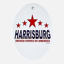Harrisburg U.S.A. Ornament (Oval)