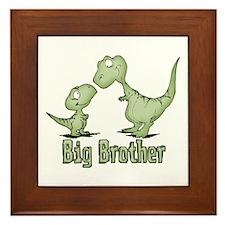 Dinosaurs Big Brother Framed Tile