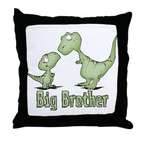 Dinosaurs Big Brother Throw Pillow