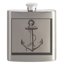 Vintage Anchor Flask