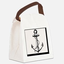 Vintage Anchor Canvas Lunch Bag