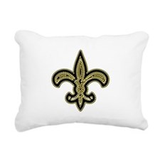 Unique Fleur de lis Rectangular Canvas Pillow